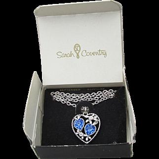 NIB 1970's Vintage Sarah Coventry Love Story Birthstone Necklace, September