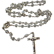 DRASTIC REDUCTION Vintage Sterling Silver CREED Crystal Rosary