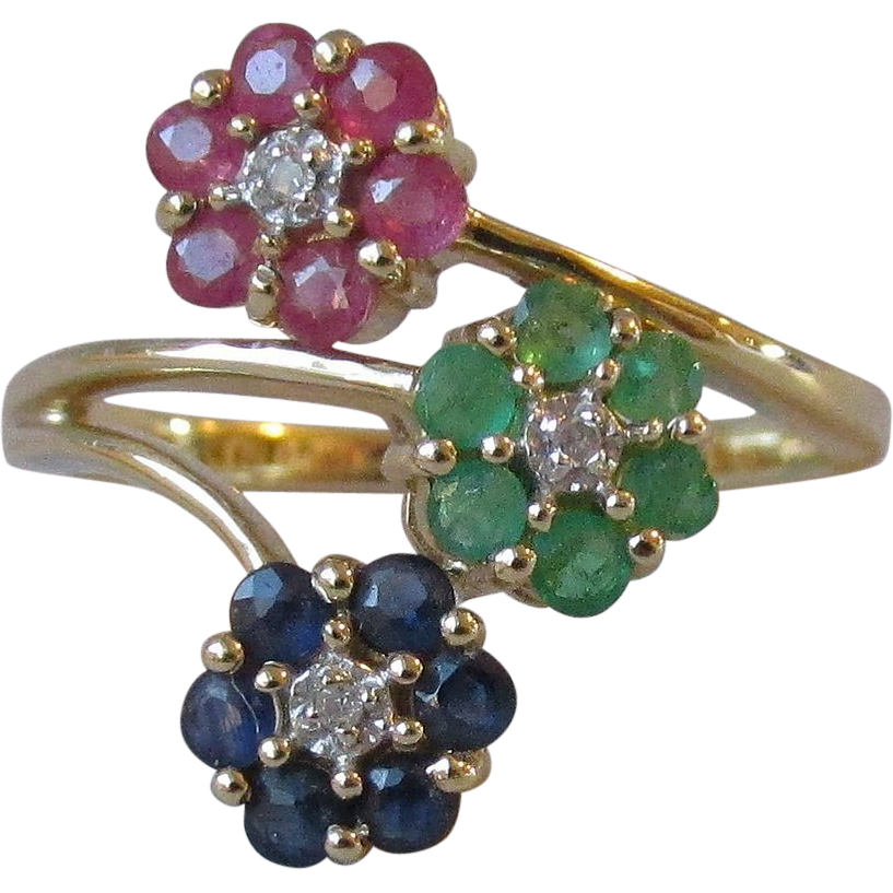 bangle emerald ruby antique product