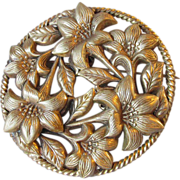 Antique Art Nouveau LILY Sash Pin