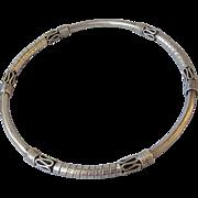 Ornate Bali Sterling Silver Bangle Bracelet with Scrolls & Wraps