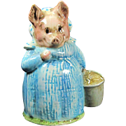 Vtg AUNT PETTITOES Figurine Beswick Beatrix Potter Dressed Lady Pig Figure
