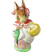 Vtg MRS. RABBIT Figurine Beswick Beatrix Potter Figure Warne 1951 Dressed Bunny