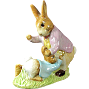Vintage Mr. BENJAMIN BUNNY & PETER RABBIT Figure Beswick Beatrix Potter Figurine 1975