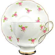 Vintage ROYAL GRAFTON ROSES Cup & Saucer Set Dainty Pink Rose