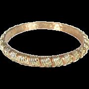 Vintage GIVENCHY Copper & Gold Tone BANGLE BRACELET Designer Signed Paris NY