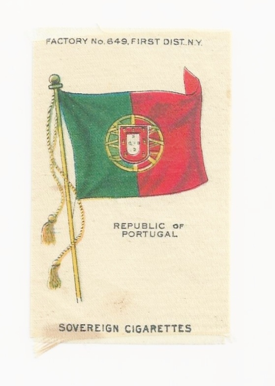 1910 Republic of Portugal National Flag - Vintage Early 1900s Sovereign Cigarette Silk - American Tobacco Company Advertising Premium