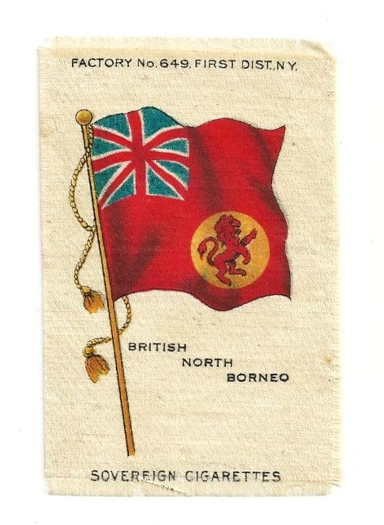 British Colonial Empire Flag - 1903 British North Borneo Union Jack - Vintage Early 1900's Sovereign Cigarette Silk - American Tobacco Company Advertising Premium - FREE WITH PURCHASE OF 2 OTHER SALE PRICED FLAG SILKS
