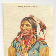 Native American Apache Chief Black Hawk Tobacco Premium – Geronimo's Tribe - Early 1900s Vintage Cigarette Silks - Zira Cigarettes Tobacco Advertising -  American Tobacco Company