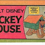 1976 Mickey Mouse Disney Cartoon Mini Comic Book - Walt Disney Productions -  Mickey Mouse and His Dog Pluto