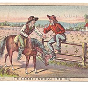 1880s Horse Drawn Farm Machinery Victorian Advertising Trade Card -  Tait Wire Check-Rower Corn Planter  -  F. B.Tait Co., of Decatur, Illinois