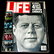 "John F. Kennedy Assassination 20th Anniversary Life Magazine Retrospective  Issue:  Zapruder Film Strip - Witness Interviews – John Jr. – Funeral – Kennedy Photographers - ""Police"" Rock Group - Mariel Hemingway - 1984 LA Olympic Games"