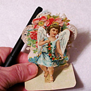 Raphael Tuck Victorian Valentine c1900 Vintage Greeting Card - 3-D Die-cut Lithograph Paper Lace Pop-up Cupid