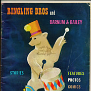 1949 Ringling Brothers and Barnum & Bailey Circus Program, Photographs and Articles - Vintage Color Cocoa Cola, 1949 Model Classic Cars and Cigarette Advertising -  Buick, Ford and Chevrolet Automobile Model Photos