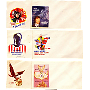 1942 World War II-2-Two U.S. American Patriotic Postal Covers – Six US War-Time Vintage Unused Envelopes – Anti-Nazi German and Anti-Japanese Propaganda - Jacques Minkus, Stamp Dealer / Publisher