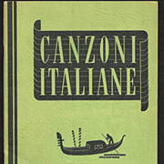 Canzoni Italiane 1938 Italian Language Popular Vocal Music Song Book - Italian Lyrics and Sheet Music - Popular Songs for Vocal Duet Singing