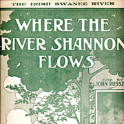 Irish American Song Sheet Music – Where the River Shannon Flows - 19th Century Traditional Irish Ballad
