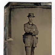 c1870 United States Postal Worker Tintype Photograph-Rare