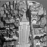 1930s Empire State Building New York City Real Photo Stereo View – Manhattan Art Deco Landmark Tallest Building - Dirigible Airship Mooring Mast / King Kong Perch - Keystone View