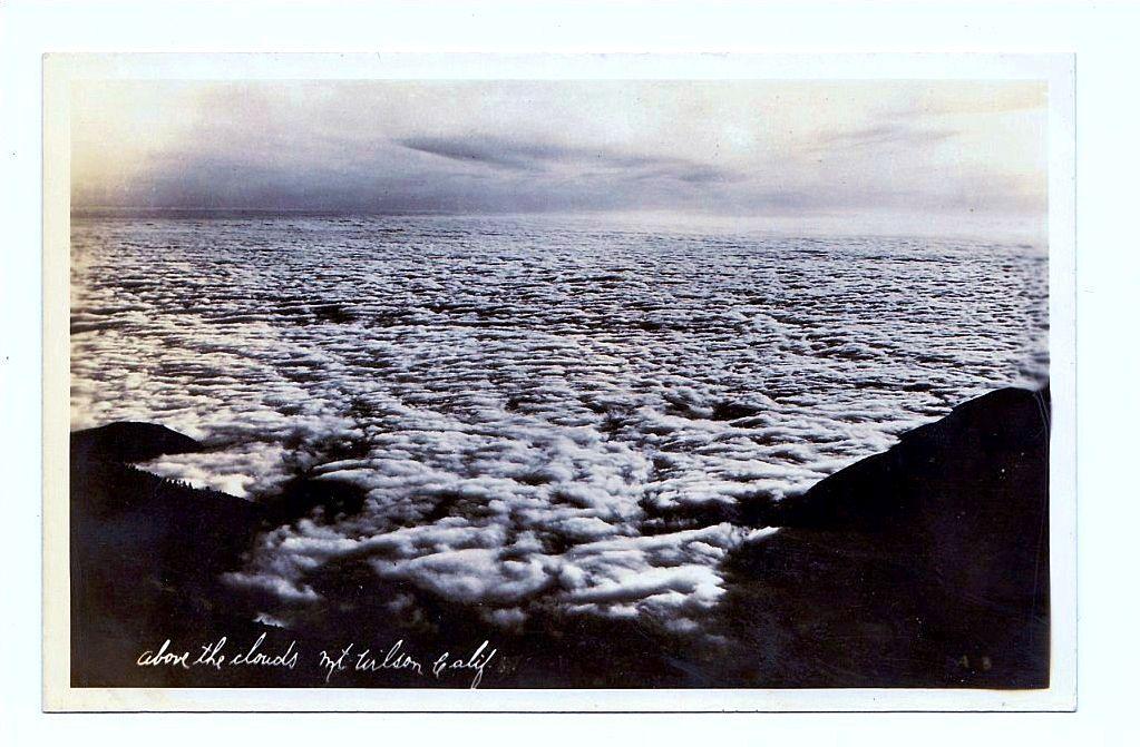 1930s Los Angeles California Mount Wilson RPPC Real Photo Postcard View - Los Angeles Basin - Pasadena - San Gabriel Mountains