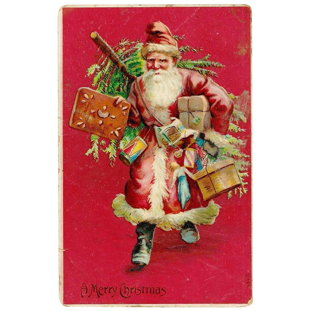 Late Victorian CHRISTMAS Santa Claus / Father Christmas / Saint ...