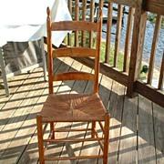Vintage Shaker Early Tilter Side Chair - Watervliet, New York Shaker Community, 1840-1850 - Rare