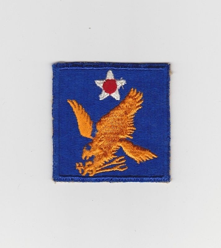 World War Two-II-2 Army Air Force Uniform Shoulder Patch Insignia - 2nd Air Force Golden Falcon - Guaranteed Vintage