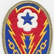 Vintage 1944 World War Two United States Army Service Forces Uniform Shoulder Insignia – European Theatre of Operations -  Army Communications Zone, Advanced Sector