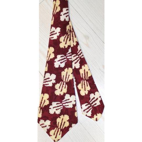 Vintage 1940s Deco Popcorn Puffs Rayon Satin Wide Tie Sibley Lindsay Curr