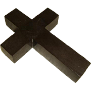 Antique Late Victorian Vulcanite Cross Pendant