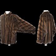 Vintage 90s Ben-Ric Furs Lunaraine Mahogany Mink Stroller Coat M