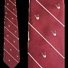 Vintage 1970s Pipe Smoker's Tie Wm Chelsea for David P. Ehrlich
