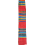"NOS Vintage 1960s Rooster Striped Thai Silk Tie ""Tiki Gardens"""