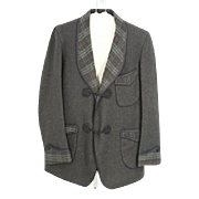 Circa 1920 Frederick Loeser & Co Wool Smoking Jacket.XS