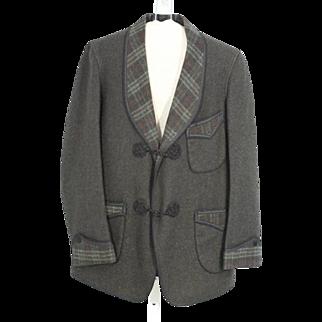 Circa 1920 Frederick Loeser & Co Wool Smoking Jacket.XS