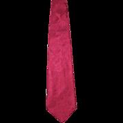Vintage 1970s Eros/Gangi Store for Men Hot Pink Silk Brocade Necktie
