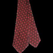 Vintage 1930s Trojan Cravat Deco Brown Silk Brocade Tie R.H.White