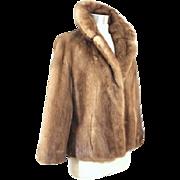 Vintage 1960s Emba Pastel Mink Jacket XS