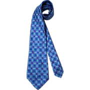 NOS Vintage 60s/70s Ken Scott Kaleidoscopic Print Silk Necktie