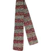 Vintage 30s/40s  Fashionknit Cross Stripe Knit Tie Lindbrook's