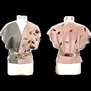 Vintage 1980s Stephen Cole Suede, Leather & Snakeskin Belted Vest S
