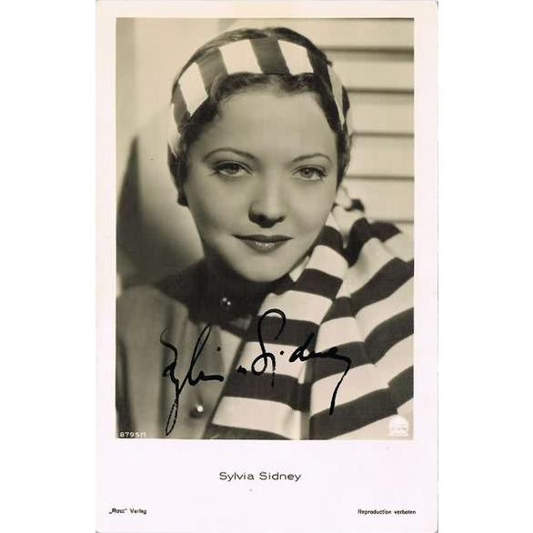 Sylvia Sidney Autograph on old Ross Photo