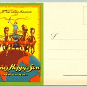ca. 1920: Attractive advertising Postcard: John Hopps & Son: Marsalla Classico