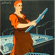 Attractive Lithographed Advertising for Casting Factory. Ca. 1920