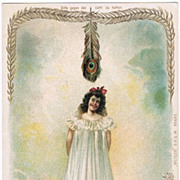 Hold to Light Postcard Lady Snake Lily