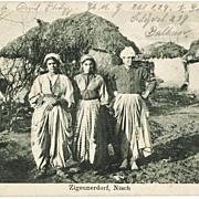 Gypsy Village  in Nisch. Postcard from 1916
