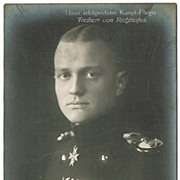 Freiherr vom Richthofen Red Baron Photo Postcard.