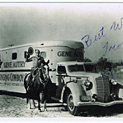 Gene Autry Autograph on Photo Print. CoA