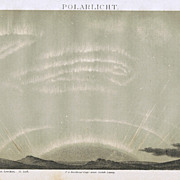 Polar Lights: Old Chromo Lithograph 1882