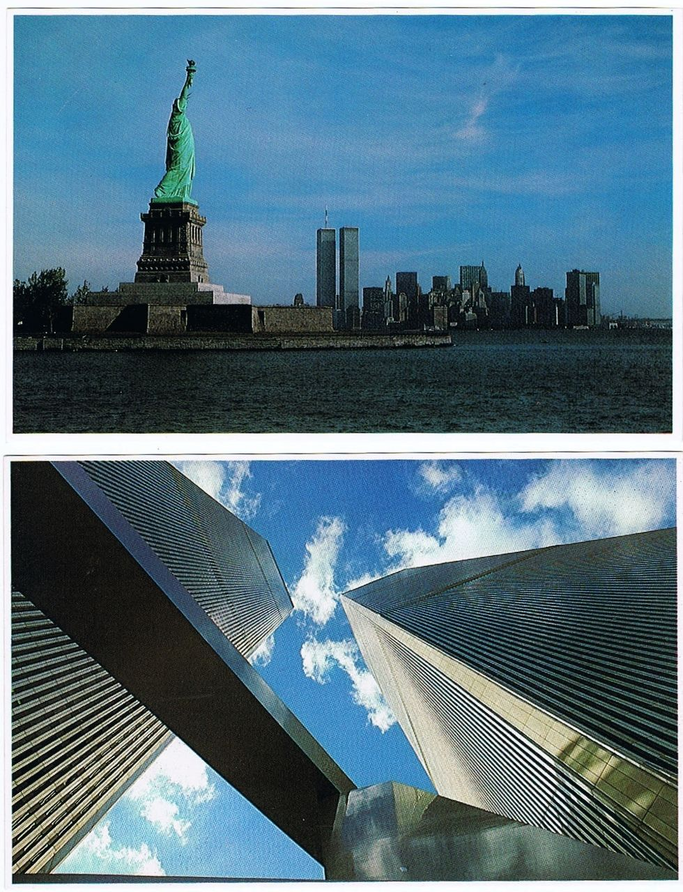 Five Twin Towers vintage Postcards